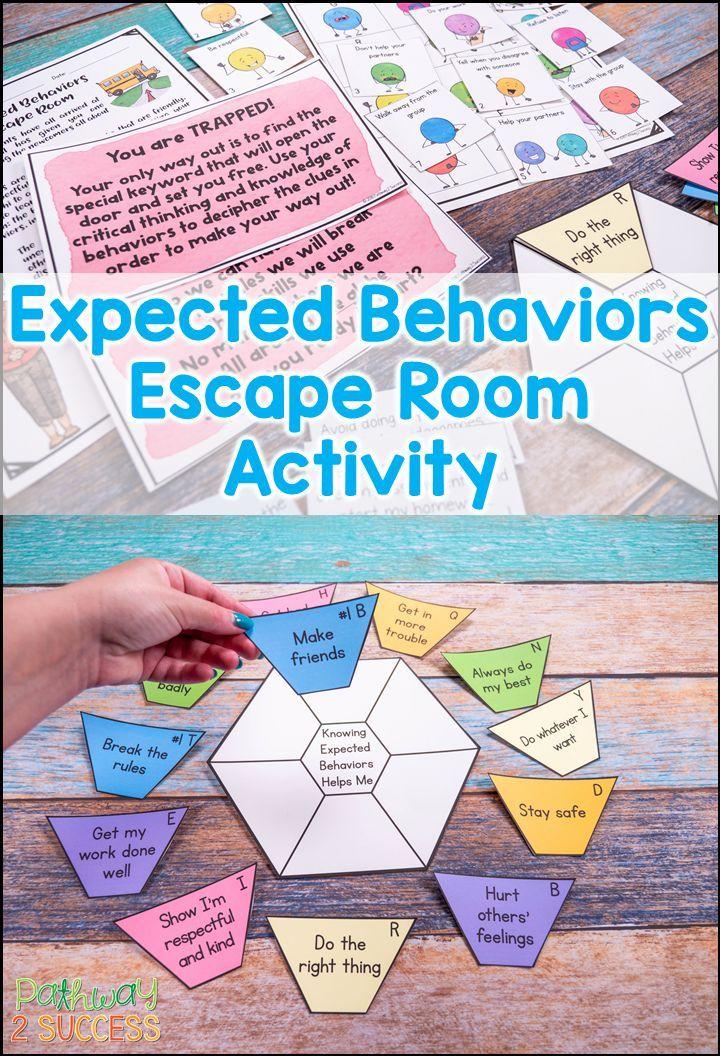 Expected Behaviors Escape Room   Pinterest
