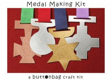 Medal Making Kit for your little heroes whether on the sports field or in the classroom.