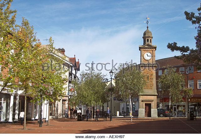 The Clock Tower Rugby Town Centre UK - Stock Image