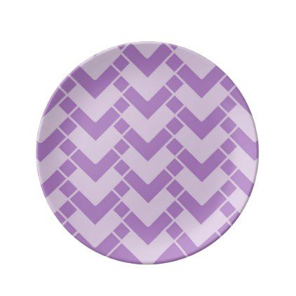 Abstract geometric pattern - purple. plate - kitchen gifts diy ideas decor special unique individual customized