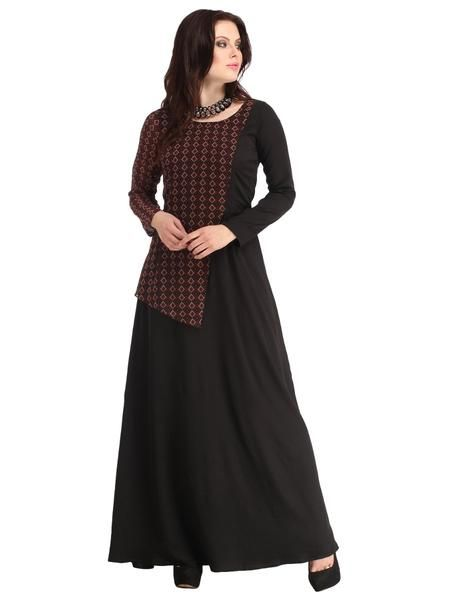 LadyIndia.com # Wedding Dress, Latest Style Beautiful Black Long Dress, Western Dresses, Party Wear Dress, Maxi Dress, Wedding Dress, Party Gown, https://ladyindia.com/collections/western-wear/products/latest-style-beautiful-black-long-dress