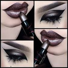 A good way to use my brown lipsticks and eyeshadows.