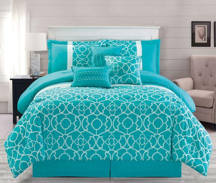 7 Piece Ladera Aqua Comforter Set