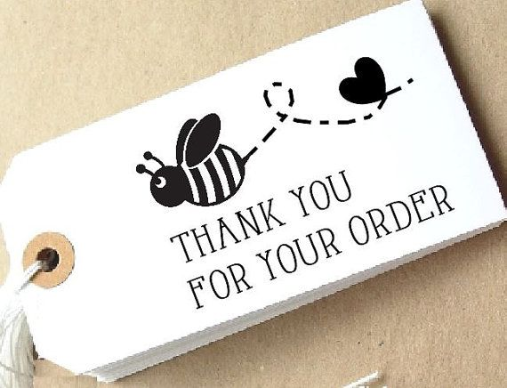 Personalised Stamp 'Bee and Heart Design' Mounted
