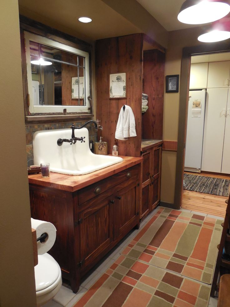 men bathroom tumblr%0A Rustic Bathroom
