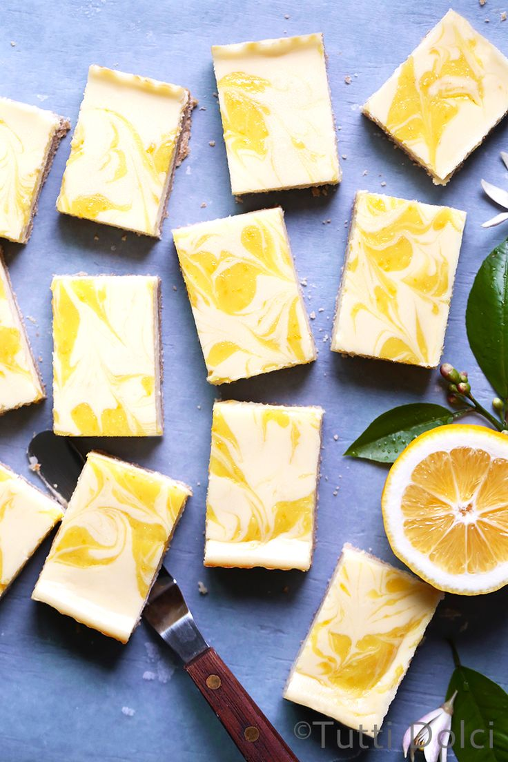 Meyer Lemon Cheesecake Bars - sweet and tangy cheesecake bars with lemon curd