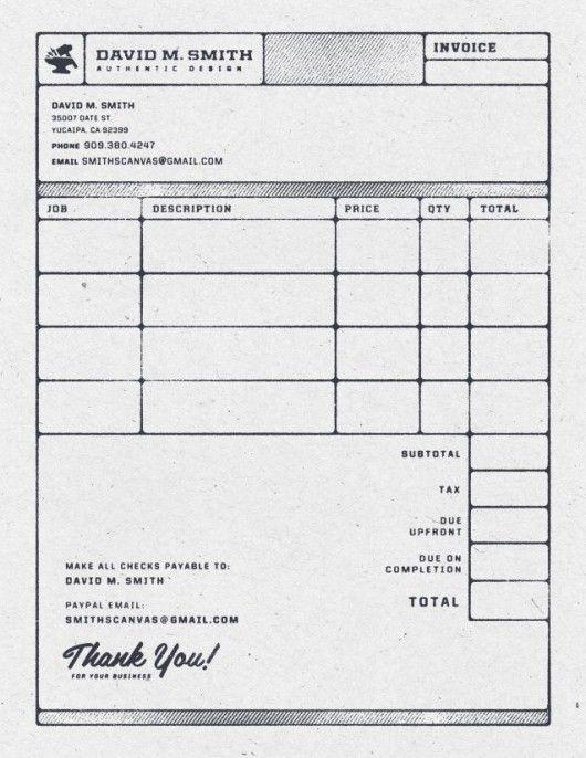 beautiful invoice design