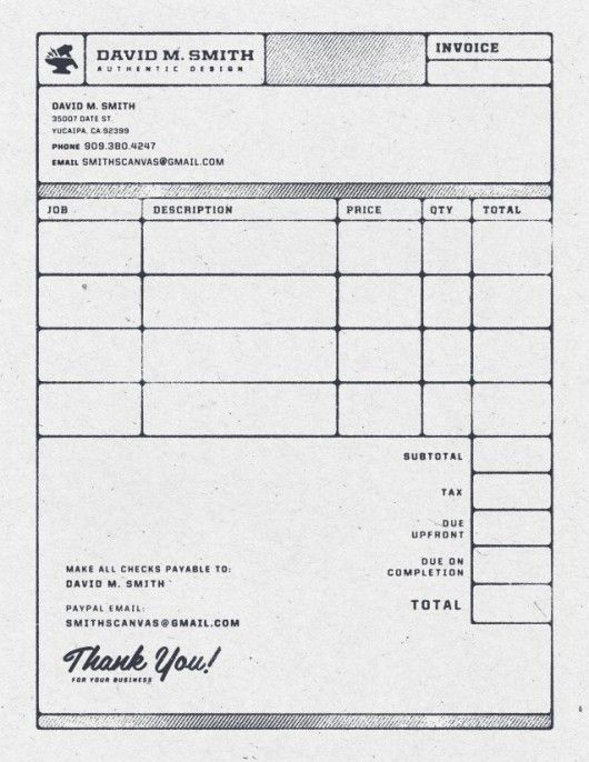 Beautiful and Functional Invoice Design