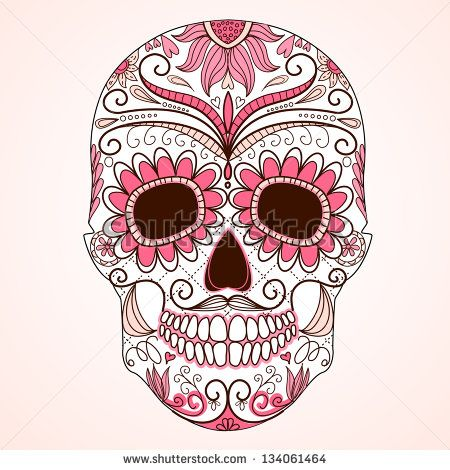 Day of the dead skull sugar skull Free vector for free download ...