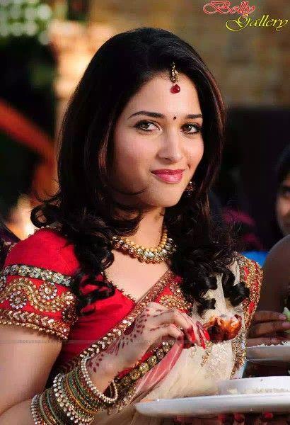 Tamanna Bhatia in Saree with designer blouse
