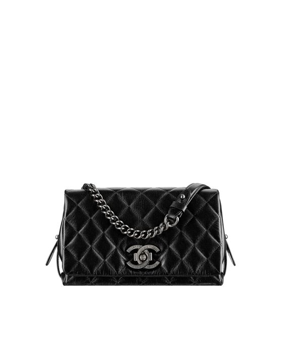 c3c26a5b7e6f Tweed flap bag embellished with... - CHANEL