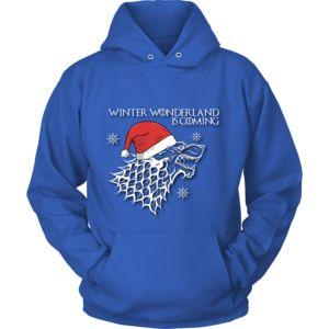 Winter Wonderland (White Text) - Unisex Hoodie - 9 oz Cotton Blend