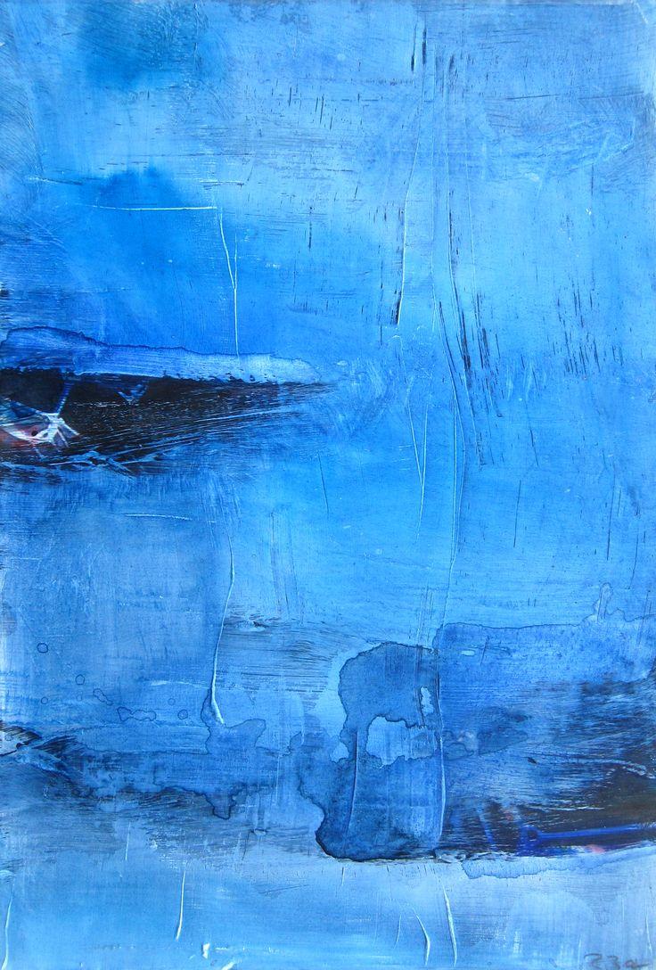 Aquarell auf Foto, blau