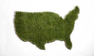 USA Synthetic Grass Door Mat