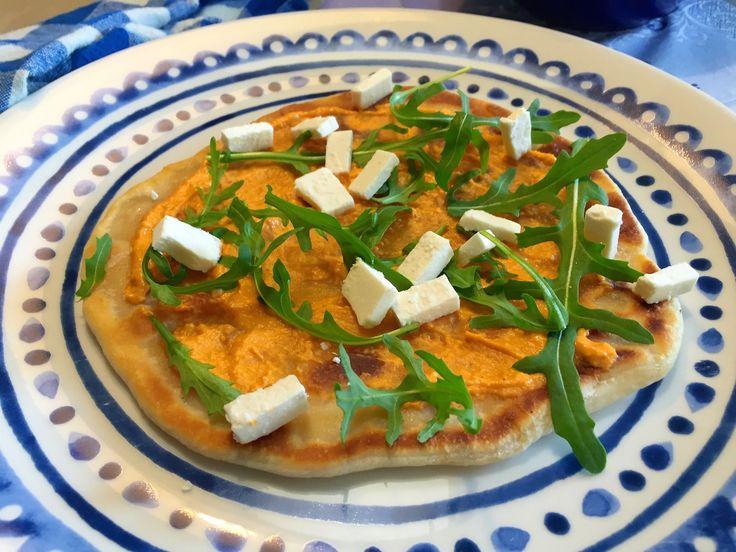 Ook lekker! Griekse pizza's uit de koekenpan
