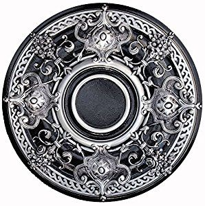 "black Ceiling Medallions | Lunardi Decor Artistic Hand Painted Ceiling Medallion 2.5"" Depth 28 ..."