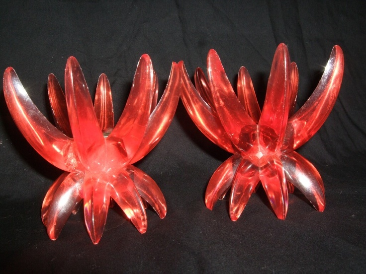 Friedel Ges Gesch, Made in Germany  1960's lucite candle holders