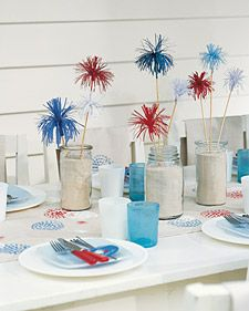 Fourth of July Table Decor: Holiday, July4Th, July Party, Table Setting, 4Th Of July, July 4Th, Red White, Party Ideas