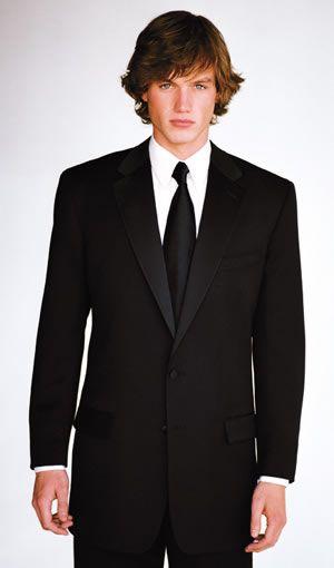 Calvin Klein CK Black Two Button Notch [P808] : Tuxedos and Wedding Rental Tuxedos, Tuxedos and Wedding Rental Tuxedos