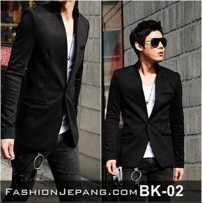 fashion, casual, anime, dark, fashion, men fashion, jogja, jual jaket, Blazer Korea Style - BK-02
