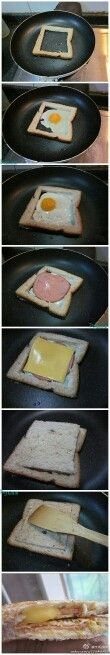 Sanwich con huevo frito