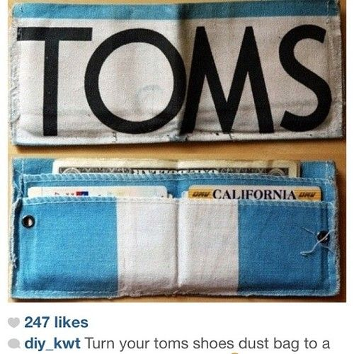 Toms flags turned into wallets. These look pretty cool.