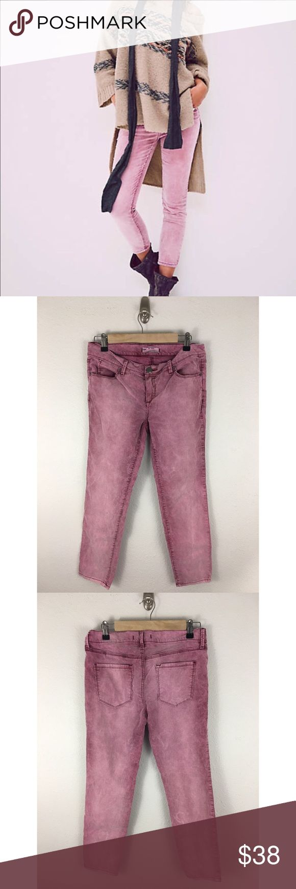 Free People Roller Cropped Cord Jeans  Sz 27 Free People Roller Cropped Cord Jeans -  Merlot Pink. Sz 27 with a 25.5 inseam, you can wear them Cuffed or Ankle length. Made of 98% Cotton 2% Spandex. In excellent preowned condition- no sign of wear. Free People Jeans Ankle & Cropped