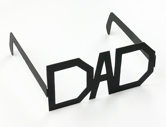 DIY Father's Day - Printable Typography Glasses by Mr Printables