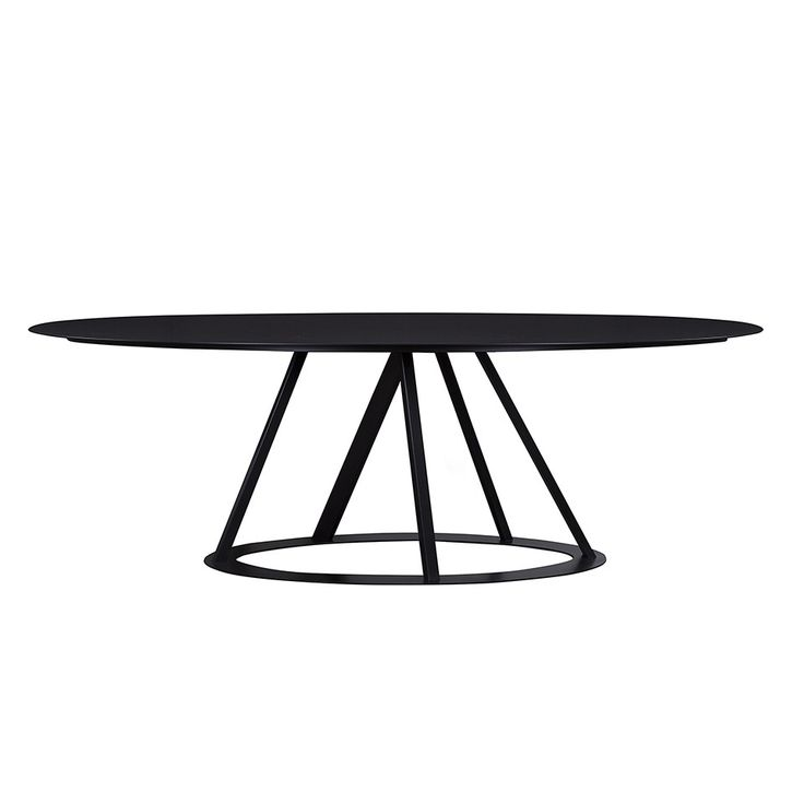 BIG IRONY OVAL DINING TABLE