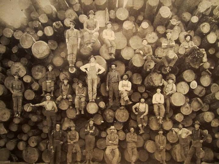 Anonymous Works: Portrait of a Group of Lumberjacks