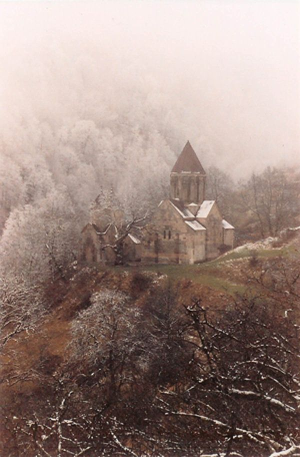 """""""Haghartsin lies in forest and was always one of Armenia's most visited monasteries.As at so many monasteries the original small church had buildings added over the centuries and is now rather dwarfed by its less ancient neighbours."""" Armenia: the Bradt Guide; www.bradtguides.com"""