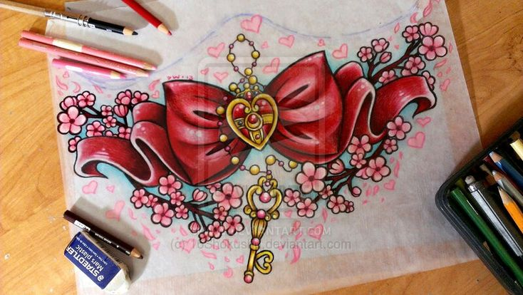 I'd love to get something like this on my lower back, but with the SuperS locket, and minus the key and chain