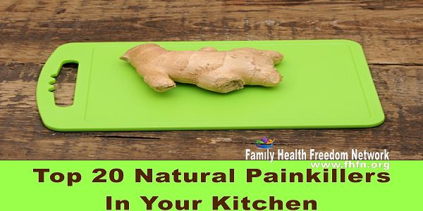 Top 20 Natural Painkillers In Your Kitchen | Family Health Freedom Network