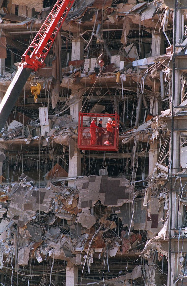 Oklahoma City Bombing On 4-19-1995