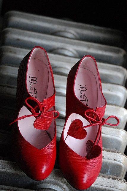 Minna Parikka shoes.  Love the Red, love the hearts!  I want them...