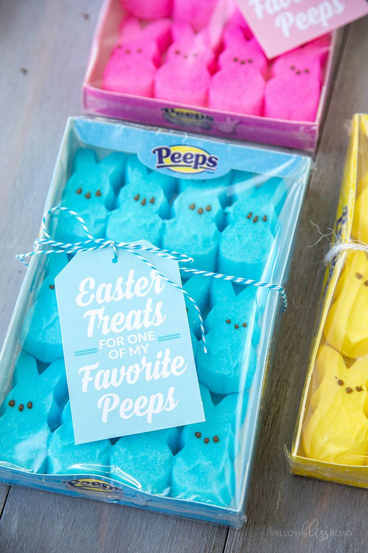 33 best easter images on pinterest easter ideas easter crafts free printable peeps easter gift tags use these free printable gift tags to make sweet negle Image collections