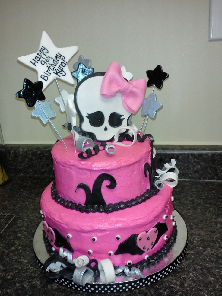 topsy turvy Monster High cake