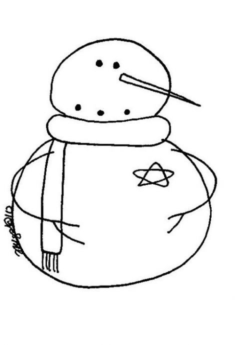 Free Winter Snowmen pattern Primitive stencils labels