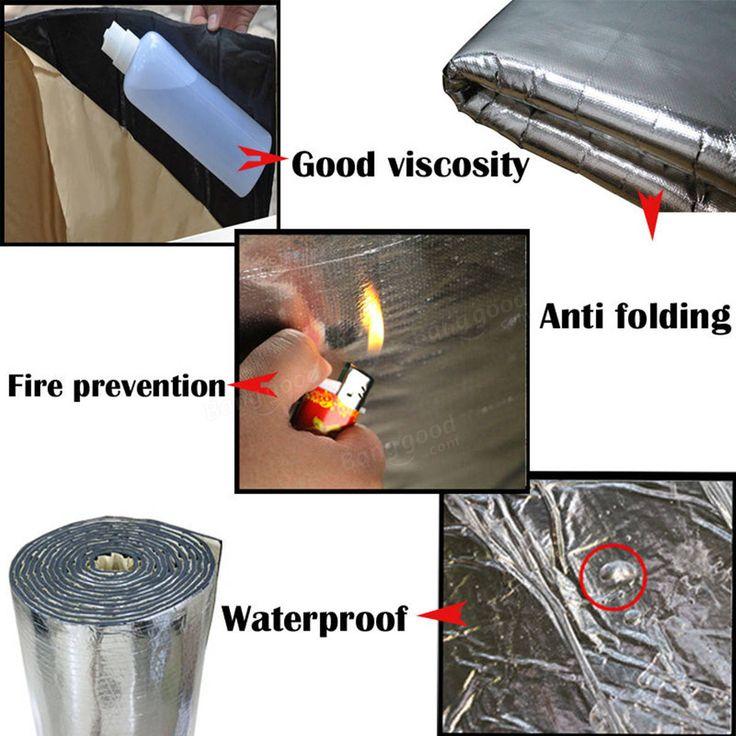 300x100cm Firewall Sound Deadener Car Heat Shield Insulation Deadening Material Mat