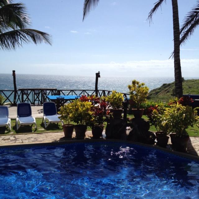 Ocean view by the pool...El Rancho de Chana