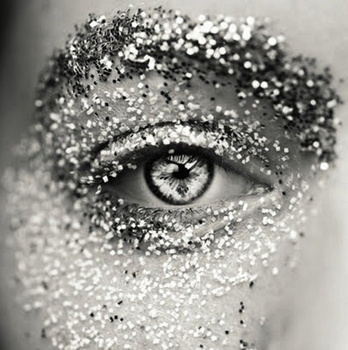 glitter black and white picture amazing eyes eye shadow wow effect