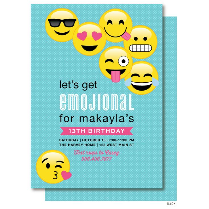43 best Emoji Birthday Party - Emoji Birthday Invitations images on ...