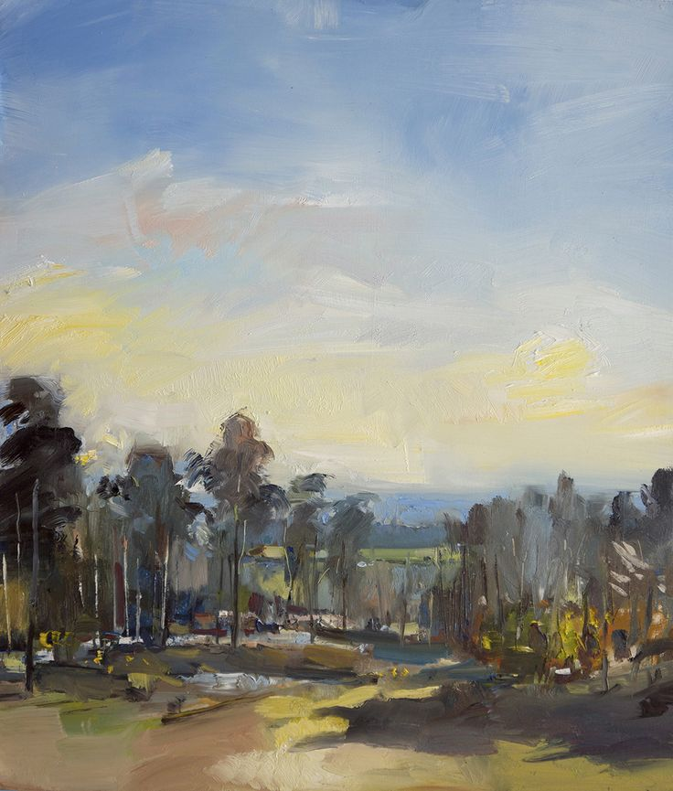 David Atkins Hydon's Ball Oil on Panel 71 x 61 cm  #Art #Paintings #Landscape