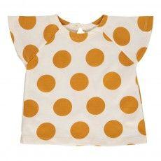 Nanu Tupfen T-Shirt Ocker