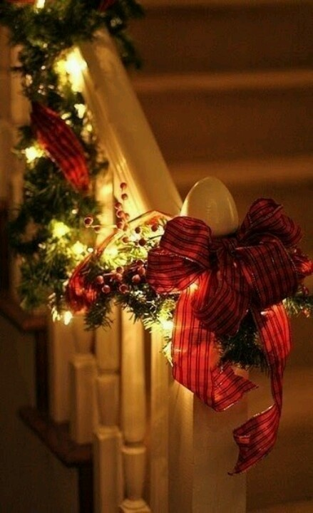 Christmas bannister decoration