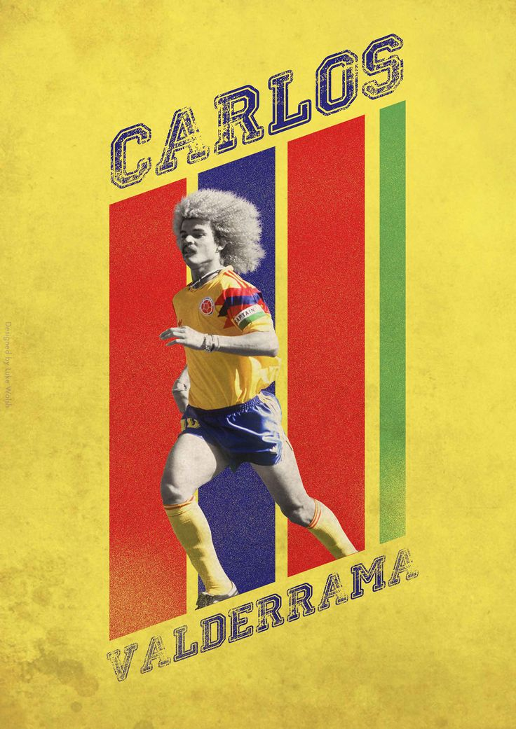 Football Posters on Behance - Carlos Valderrama - Colombian Legend