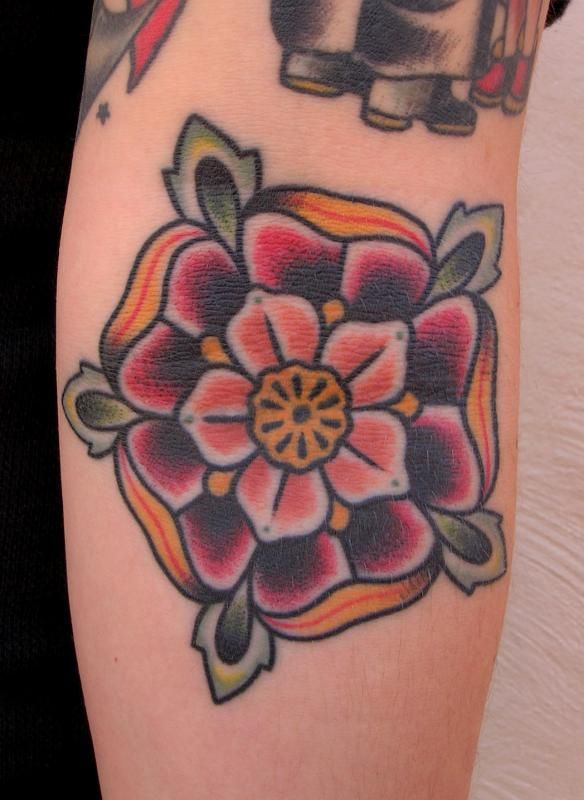 Paul A. Dobleman Tattoo Picture: english rose