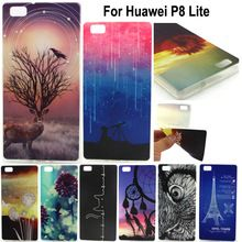 Huawei p8 lite mooie mode print zachte siliconen tpu moible telefoon case voor huawei ascend p8 lite/p8 mini telefoon covers(China (Mainland))