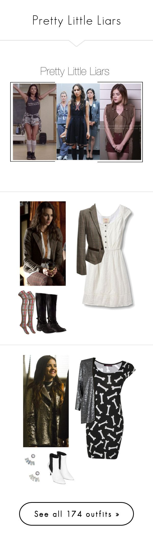 """""""Pretty Little Liars"""" by shadyannon ❤ liked on Polyvore featuring Forever 21, Quiksilver, Steve Madden, MARC CAIN, Aéropostale, Boohoo, Episode, River Island, Topshop and J Brand"""