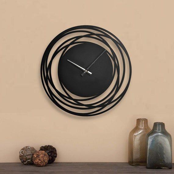 Wall Clock Modern Wooden Clock For Wall Kitchen Wall Clock Etsy Wall Clocks Living Room Wooden Clock Clock Wall Decor